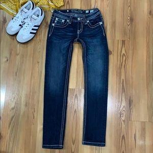 Miss Me skinny embellished jeans Size 10